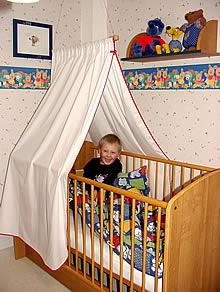 klamboe afgeschermd kinderbedje