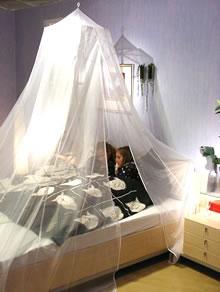 Klamboe afgeschermd twee persoons voor bed van 2m x 2m