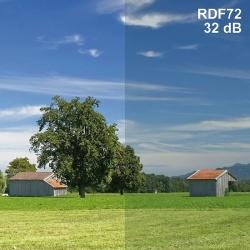 Raamfolie RDF 50-helder Demping 28dB >99,82% afscherming. Prijs per strekkende meter  50% lichtdoorlaat